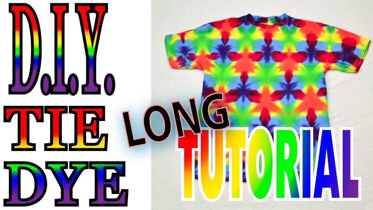 DIY Tie Dye a 60 60 60 Flag Fold on a shirt [Long Tutorial]