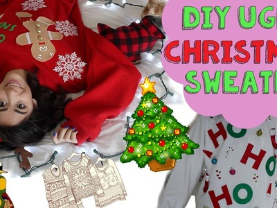 ❅DIY Ugly Christmas Sweater!❅ + Giveaway! (#CRAFTMAS)