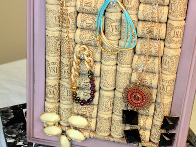 DIY Wine Cork Jewlery Holder