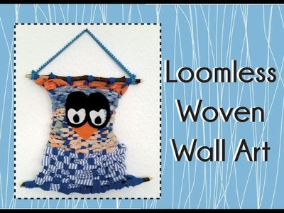 DIY Woven Wall Art without a loom!