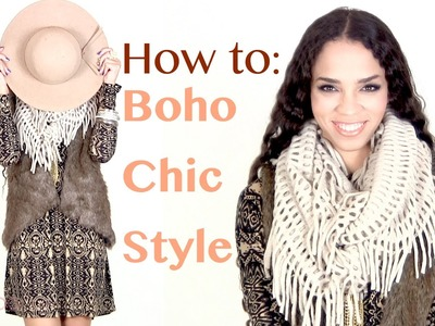 Fall.Winter Fashion Tips: Boho Chic Outfit Ideas - Bohemian Style Outfits