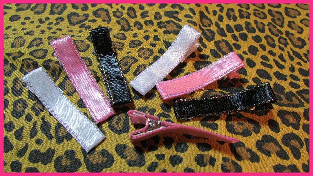 How to cover Metal Hair Clips No.2 - Free Tutorial - Hair Clips for Hair Bows