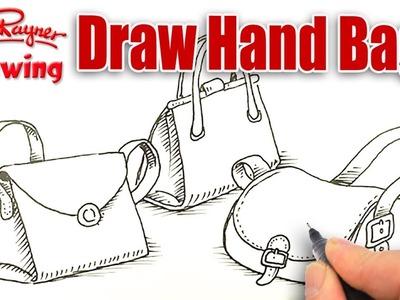 How to draw handbags!