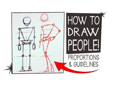 How to DRAW PEOPLE, proportions & Guidelines - HTA #10