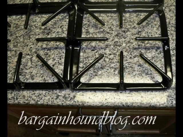 How to easily clean your burner covers with NO scrubbing!