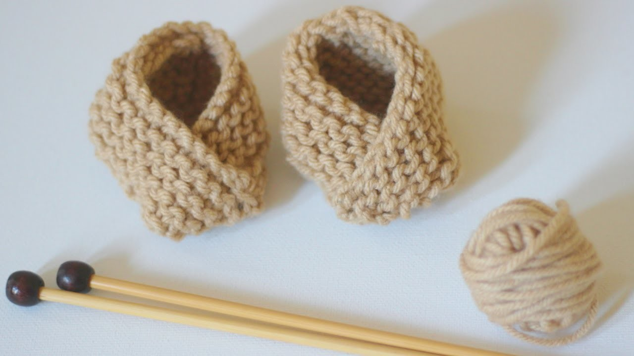 How to Knit BABY BOOTIES Shoes | Easy for Beginning Knitters