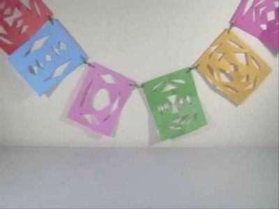 How to make a colorful paper banner - EP
