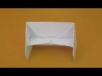 How To Make Paper Sofa - craft work Origami - sofa origami you tube