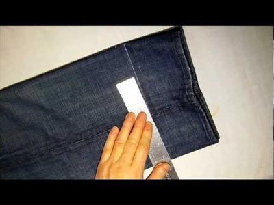 How to shorten Jean Pants with Attach Original hem part1