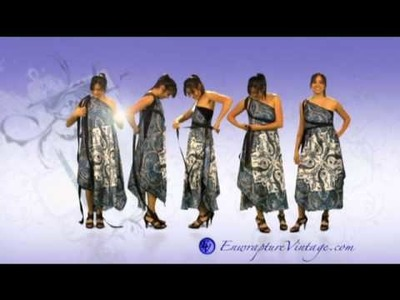 "How to Tie your Enwrapture Vintage Goddess Maxi Scarf Multi Wear Dress. "" Arachne Collection"""