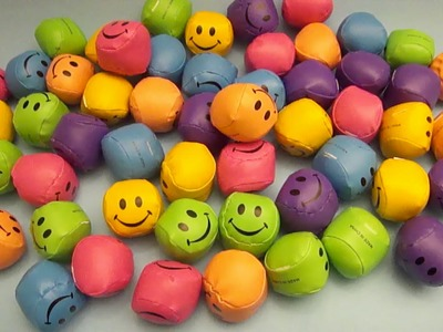 Learn Colours with Smiley Face Squishy Balls! Fun Learning Contest!