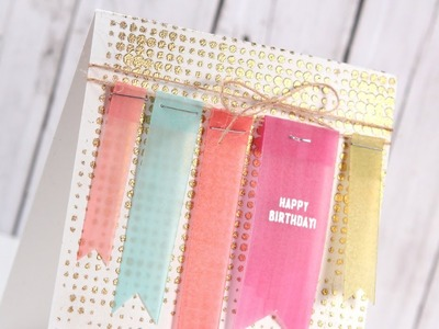 Make a Card Monday #239 - Vellum Birthday Tags