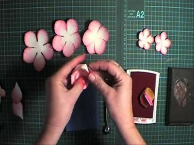 Making punch art Peony Flowers