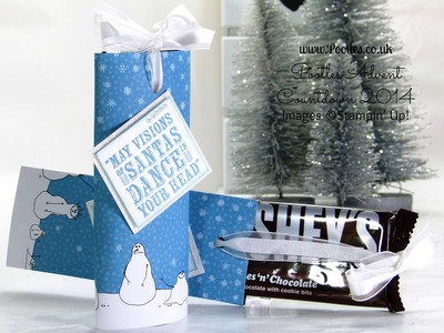 Pootles Advent Countdown Slider Chocolate Bar Tutorial using Stampin' Up! DSP
