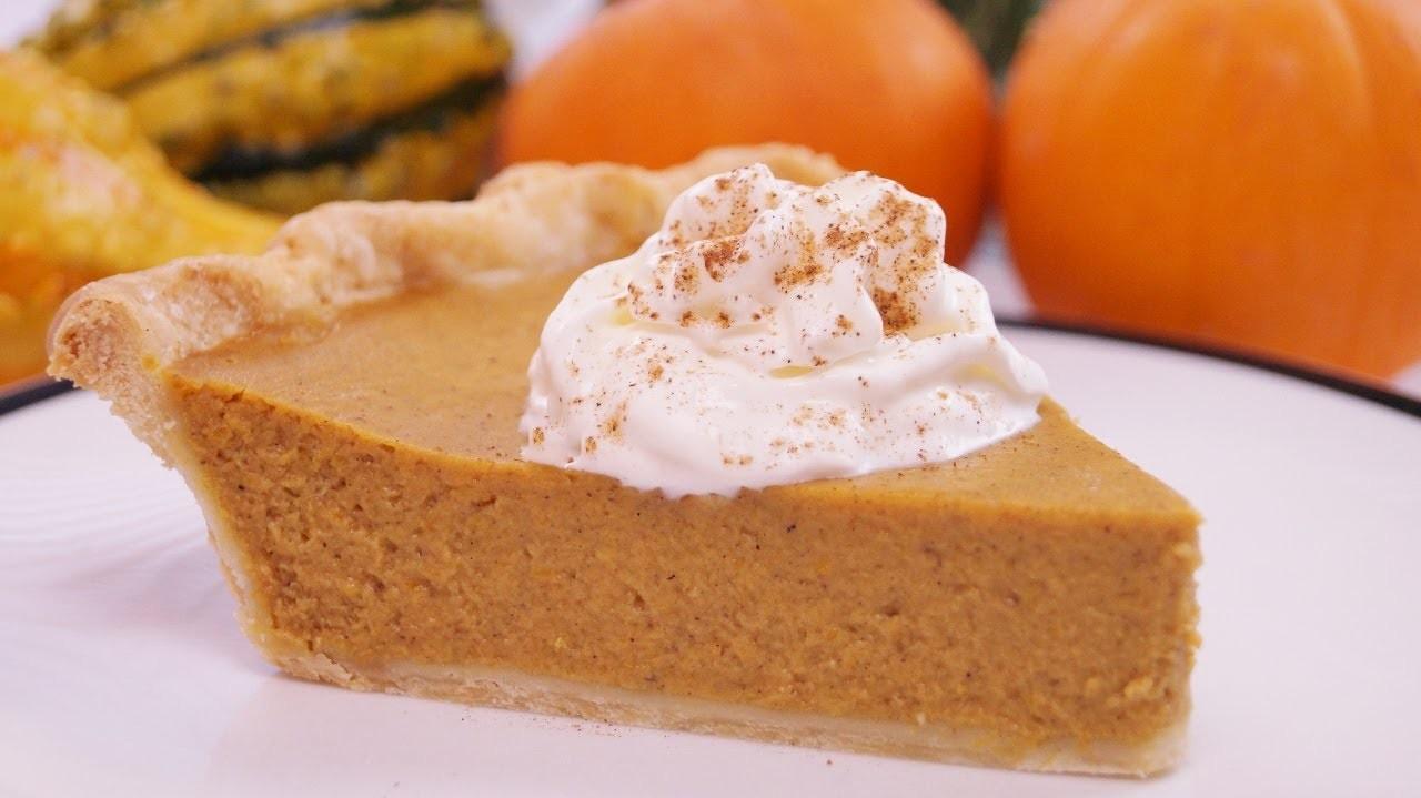 Pumpkin Pie Recipe: From Scratch: How To Make Homemade Pumpkin Pie! Dishin' With Di #111