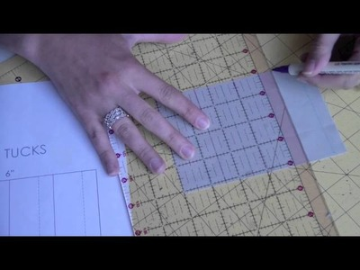 Sewing 101: Marking Tucks