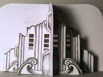 Skyscraper One - Pop-up Paper Table Decoration for Events: Jean Kropper, Paper and Pixel
