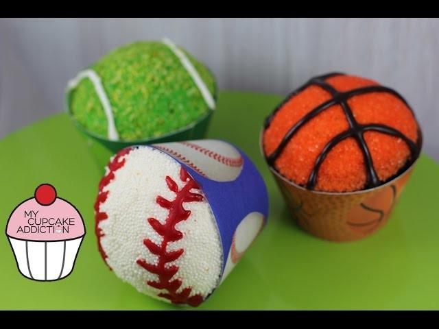 Sports Ball Cupcakes! Basketball | Baseball | Tennis | My Cupcake Addiction