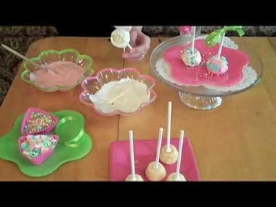 Springtime Cupcake Pops