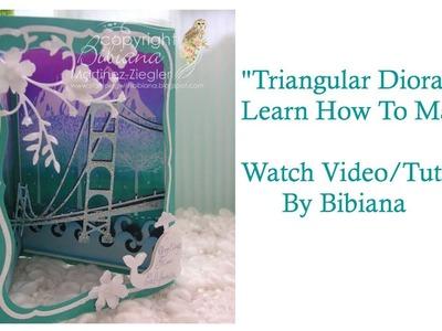 Triangular Diorama Card Tutorial by Bibiana