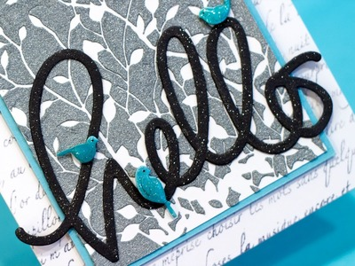 Using Intricate Stencils + New Simon Says Stamp Inks