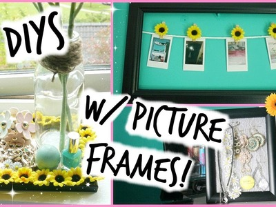 3 DIYS Using Picture Frames ♡ Room Decor