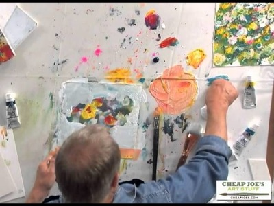 A Simple, Loose and Abstract Approach to Negative Shape Painting with Robert Burridge