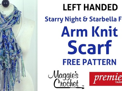 Knit Arm Knit Starbella Flash Starry Night Fringed Scarf Left