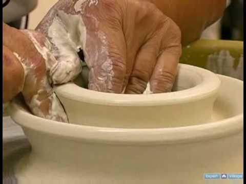 Ceramics: How to Make Double-Walled Pottery Vessels : Opening a Ceramic Double-Walled Pot