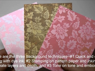Creative Techniques for Background Stamping with Heidi Blankenship for JustRite Papercraft®