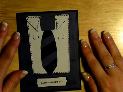 """Cricut """" Happy Father's day """" shirt and tie card  simply charmed cartridge"""