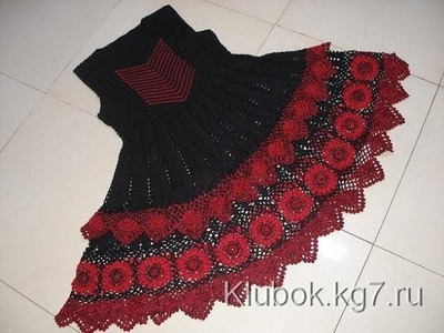 Crochet dress| How to crochet an easy shell stitch baby. girl's dress for beginners 37