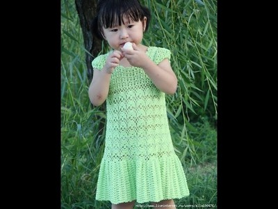 Crochet dress| How to crochet an easy shell stitch baby. girl's dress for beginners 46