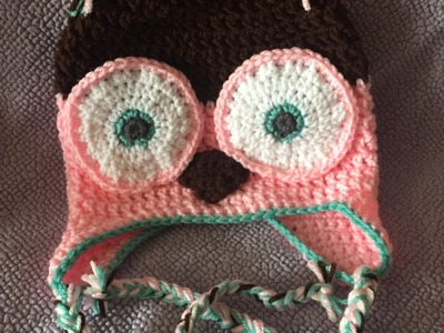Crochet owl hat - diy from home