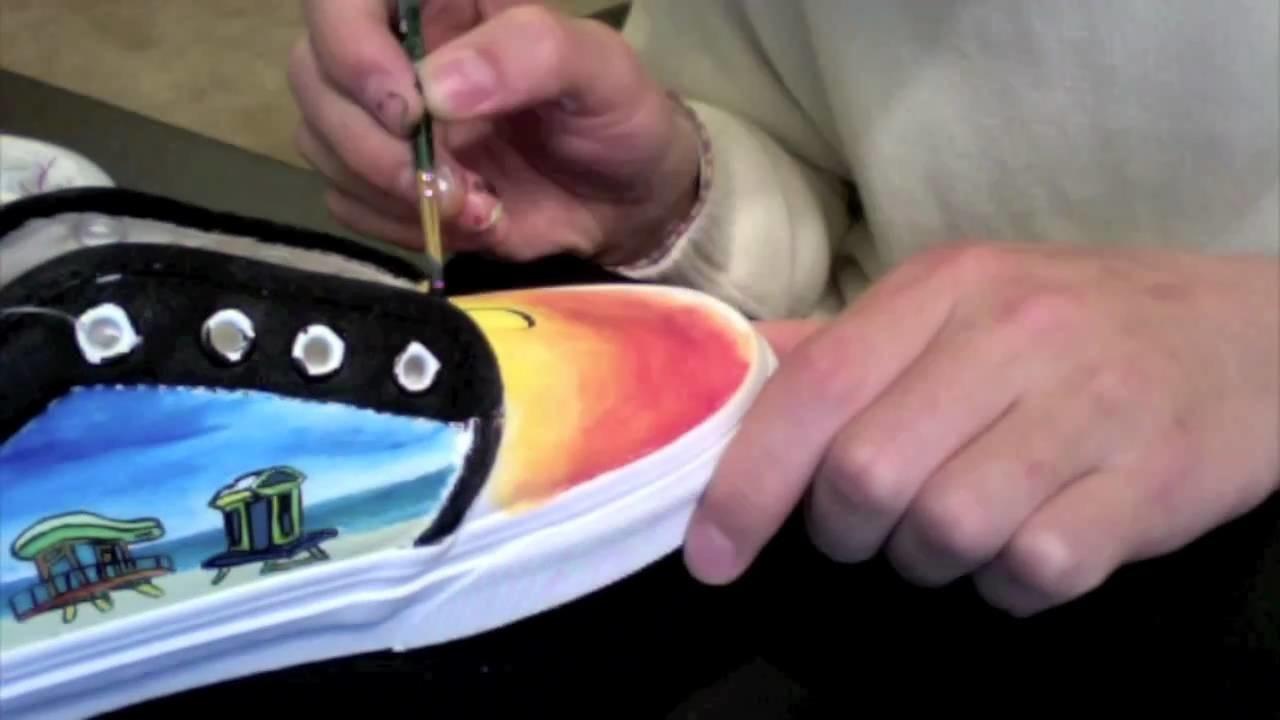 29663e938f9 Custom Painted Shoes - EnHaoKicks Miami Miami Vans