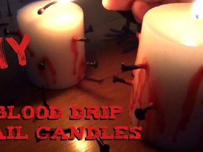 DIY Décor ♥ Blood Drip Candles