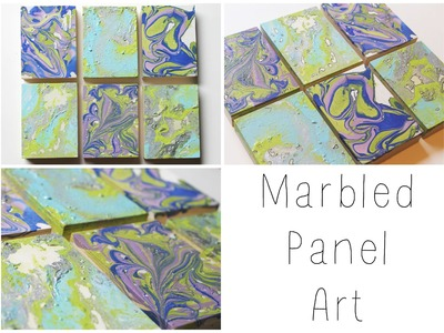 DIY: Marbled Panel Wall Art ♡ {Art for the Non-Artist} ♡ Jessica Joaquin