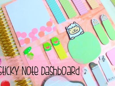 DIY Planner Dashboard | Sticky Notes & Page Flags
