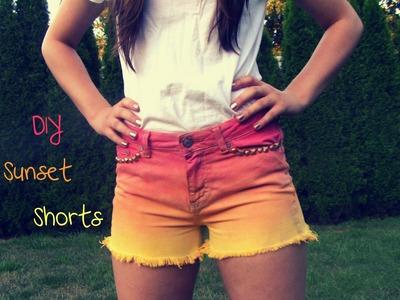 DIY.YOLO Sunset Shorts