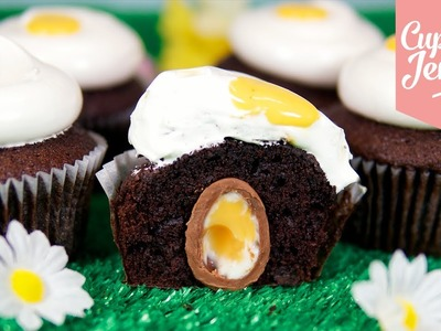 Easter Creme Egg Cupcake Recipe   Cupcake Jemma