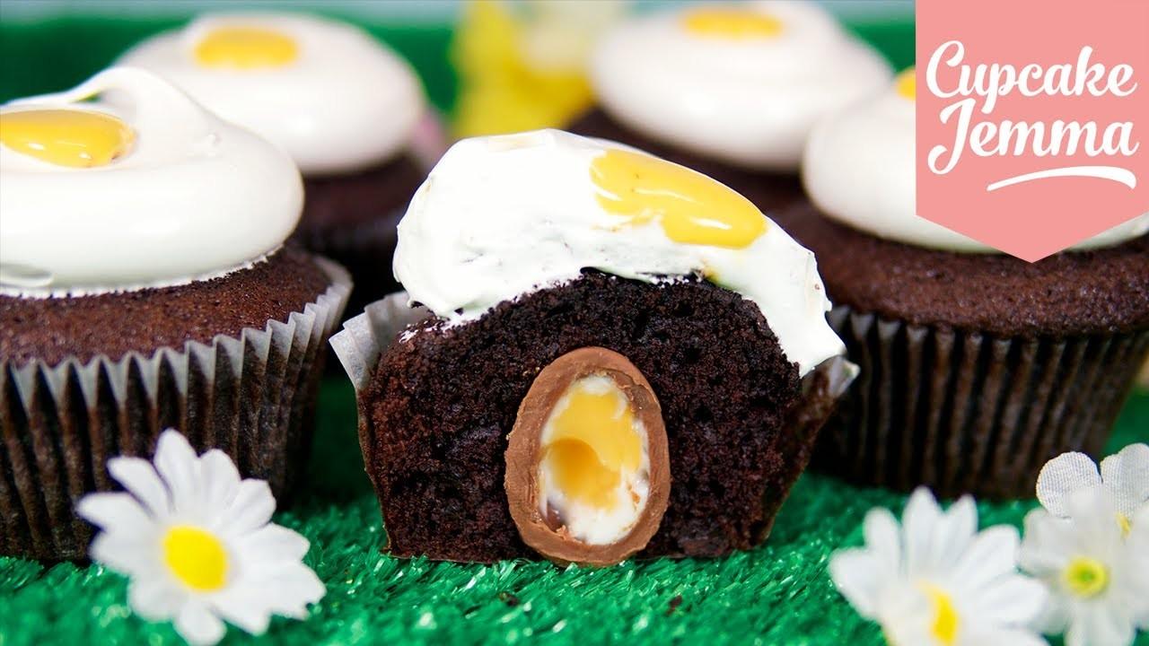 Easter Creme Egg Cupcake Recipe | Cupcake Jemma