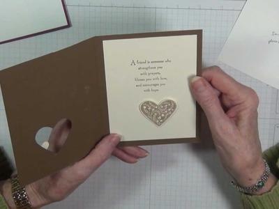 Embellishing inside of card Tutorial
