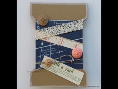 Envelope Punch Board:  A Spool Card for crafty friends!