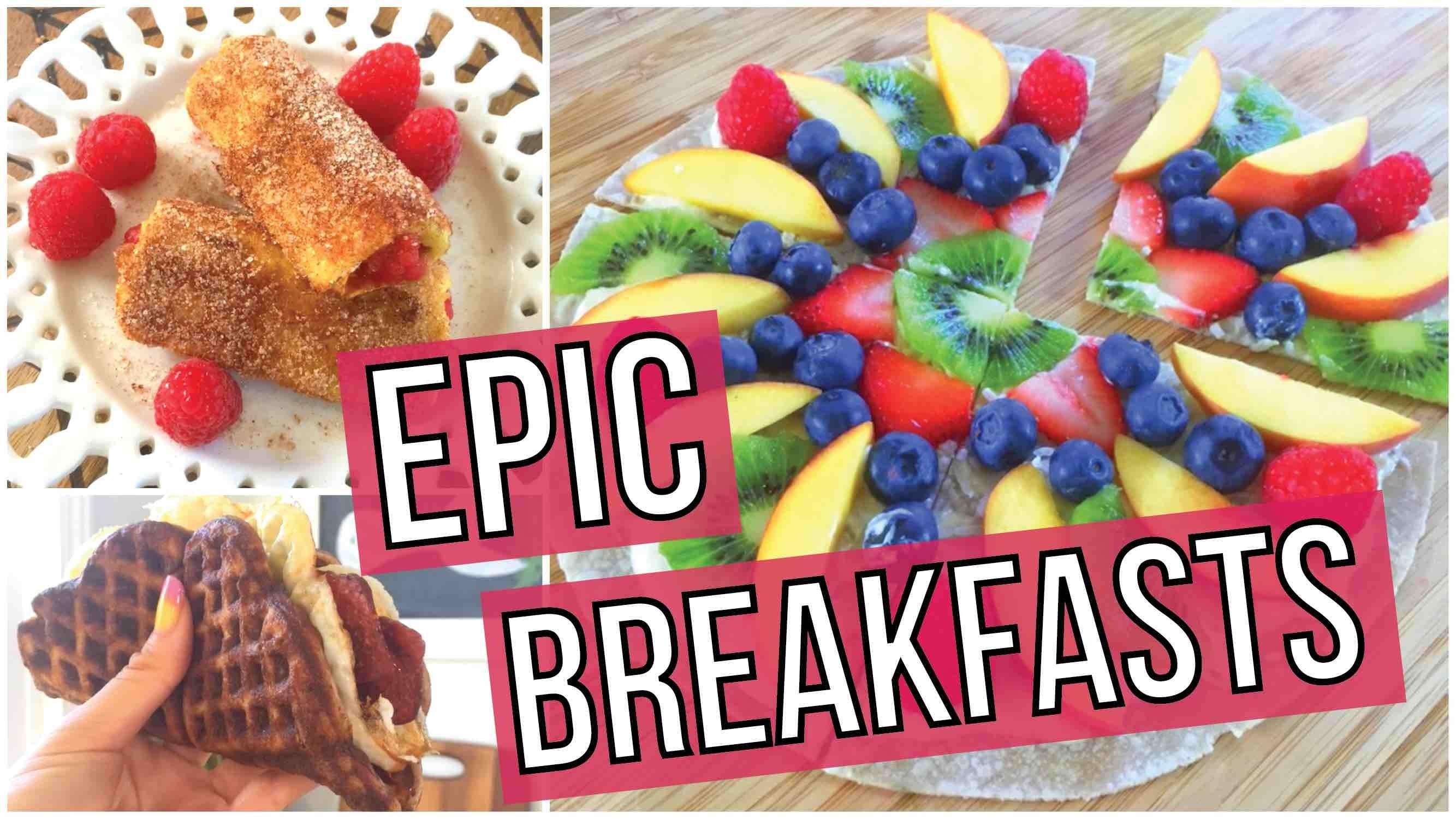 EPIC Breakfast Ideas - Waffle Taco, French Toast Rollups, Breakfast Pizza!