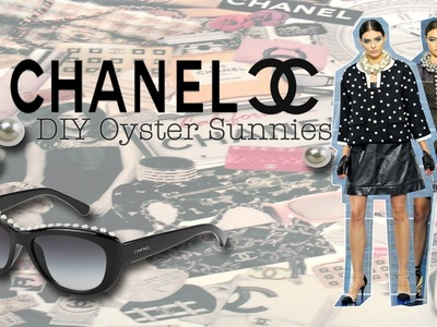 "‪♔‬ Fashion DIY: Chanel Inspired ""Oyster"" Sunglasses‪ ♔‬"