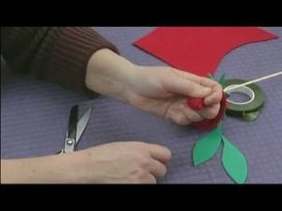 Foam Flower Crafts for Kids : Making a Rose for Kid's Crafts