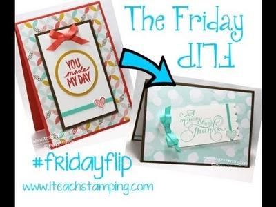 Friday Flip Making a Handmade Thank You Card