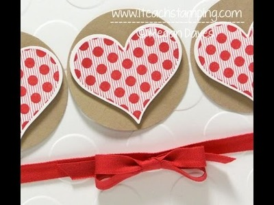 Hand Made All Occasion Heart Card