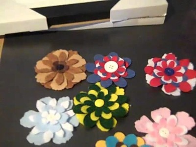Handmade felt and fabric flowers
