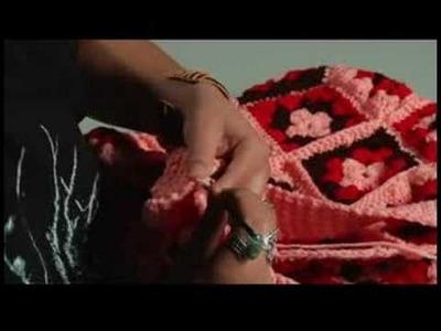 How to Crochet a Bag : Crochet: Start Attaching Bag Strap